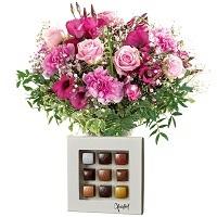 Blomster og chokolade